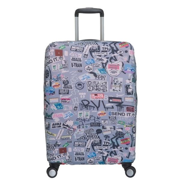 OUTDOOR-行李箱保護套-L-26~29吋(塗鴉) ODS18B01LGY
