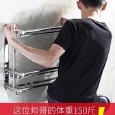 【快出】毛巾架洗手間廁所不銹鋼毛巾架雙層三層衛生間置物架壁掛免打孔浴室YYJ