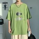 短袖t恤 男夏季潮流 時尚潮牌 寬松純棉半袖 體恤舒適百搭上衣服