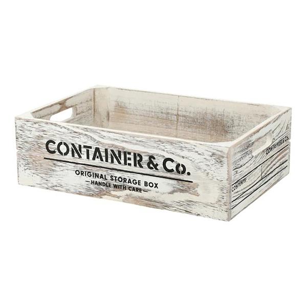 木製收納盒 SHACK2 寬低型 橫式半格型 WH NITORI宜得利家居