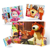瑪莎六面畫木製拼圖方塊積木 寶寶玩具 木製玩具 益智玩具