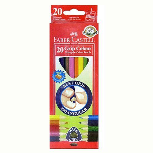 Faber-Castell大三角彩色鉛筆 3.3 mm 20色 *116520