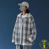 棉衣冬季格子女寬鬆韓版棉服學生羊羔毛外套【雲木雜貨】