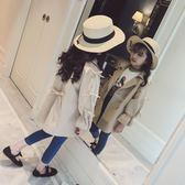 風衣外套 童裝女童秋裝風衣韓版中長款洋氣兒童中大童外套公主潮衣【小天使】