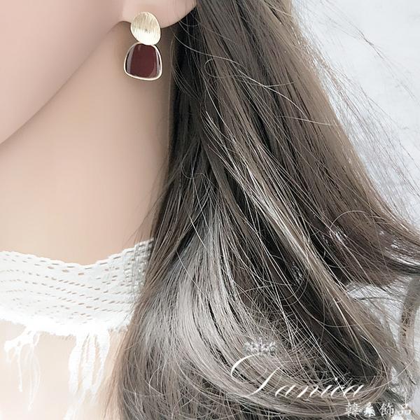 耳環 現貨 韓國女神氣質百搭簡約幾何垂墜耳環 夾式耳環 S93576 批發價 Danica 韓系飾品 韓國連線