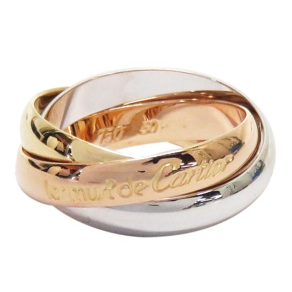 Cartier 卡地亞 Trinity系列 18K金三色三環戒 Ring #50 【二手名牌BRAND OFF】