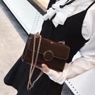 漆皮小包包女新款潮百搭斜背包鏈條迷你小方包