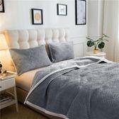 加厚法蘭絨毛毯150X200cm 灰色