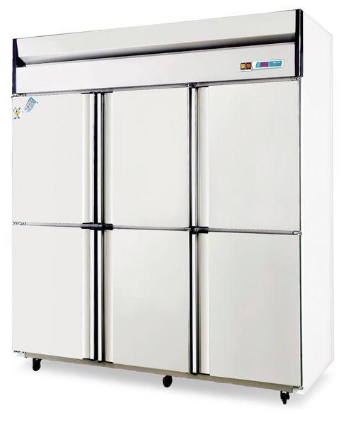 六門式 不銹鋼型 冷凍冷藏櫃【風冷無霜】型號:TC-660