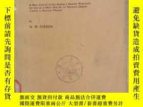 二手書博民逛書店the罕見physics of nuclear reactions(P1171)Y173412