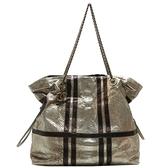 CHANEL 香奈兒 金銀雙色蛇皮肩背包 Shoulder bag (無卡) 【二手名牌BRAND OFF】