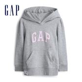 Gap女幼童 Logo縮口連帽休閒上衣 567905-石楠灰