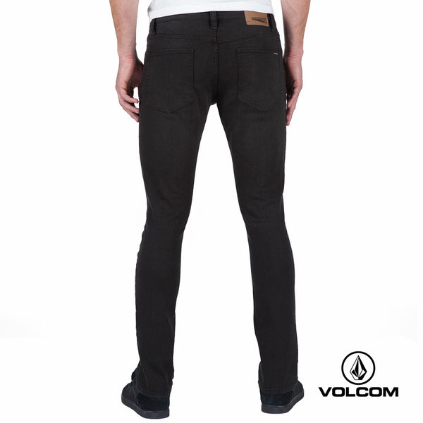 VOLCOM 2X4 DENIM 32 INSEAM 厚棉款丹寧牛仔褲(男款)-黑