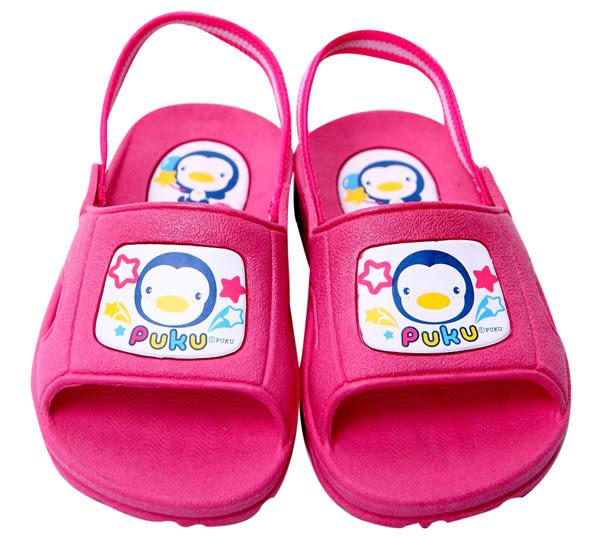 【奇買親子購物網】PUKU 學步拖鞋(藍/粉)