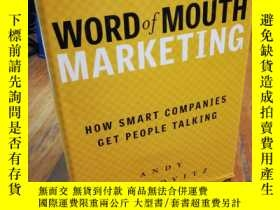 二手書博民逛書店Word罕見of Mouth Marketing: How Sm