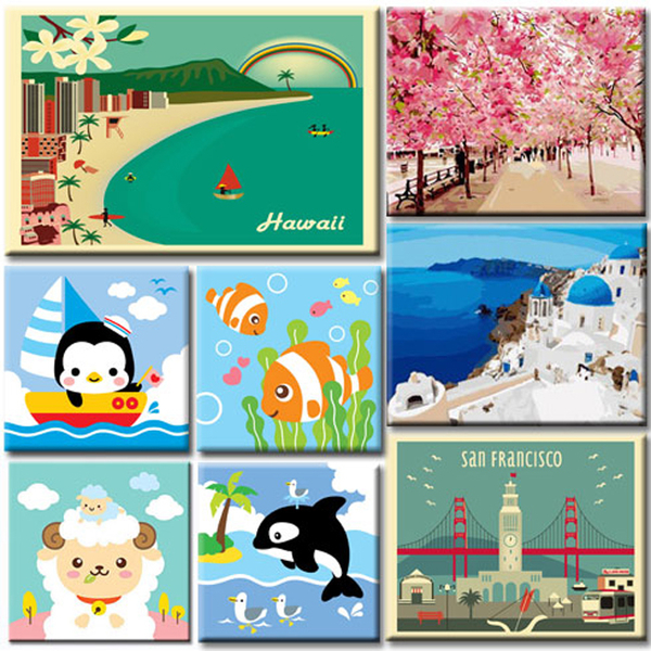 LOVIN 超萌韓版數字油畫  星座系列 雙魚座(12) 1幅