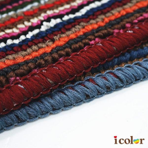 icolor 橫紋暗色地墊(35x50cm)