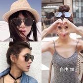 (低價促銷)新品墨鏡女潮偏光太陽鏡正韓長圓臉明星款個性網紅眼鏡眼睛