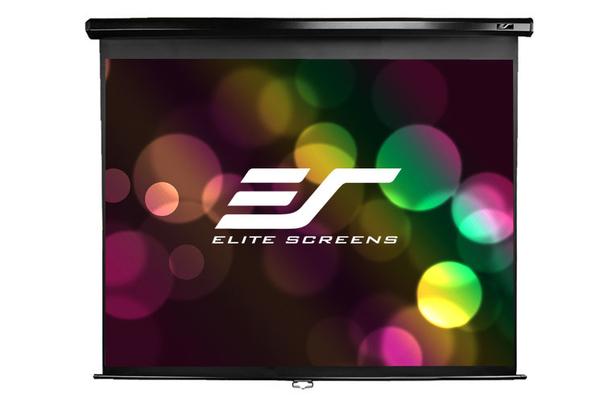 《名展影音》Elite Screens 億立 (M106UWH3-E15 ) 標準型手拉幕106吋 上黑邊38cm 比例 16:9 (附拉繩)
