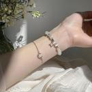 手鏈 星月貓眼石手鏈女氣質網紅小眾設計轉運珠手環閨蜜學生手飾品【快速出貨八折鉅惠】