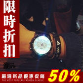 『潮段班』【SB052303】韓國夜店流行街頭造型發光LED情侶錶男錶女錶