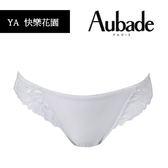 Aubade-快樂花園S-L刺繡蕾絲丁褲(白)YA