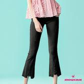 【SHOWCASE】率性刷破造型美腿顯瘦彈性七分褲(黑)