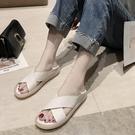 平底涼鞋 羅馬涼鞋女涼鞋女仙女風平底2021年新款夏季果凍運動羅馬兩穿交叉涼拖ins潮 寶貝 上新