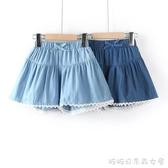 女童薄款牛仔短褲外穿夏裝純棉洋氣女孩中大兒童褲子寬鬆熱褲裙褲快速出貨