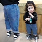 女童牛仔褲寬鬆韓版休閒1-3歲兒童2018春裝新款直筒闊腿寶寶褲子【無趣工社】
