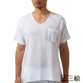 三槍牌時尚型男縐縐布短袖衫 3件組 HE432