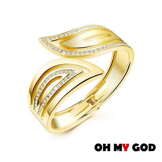 OH MY GOD亮麗典雅銅鍍金手環