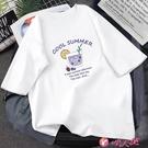 短袖上衣 t恤女2021年新款短袖夏裝網紅寬鬆韓版百搭白色t恤上衣少女潮 小天使 99免運