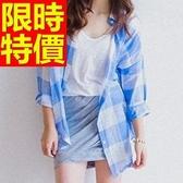 長袖襯衫-長版可愛純色簡單精緻女裝上衣2色59n44【巴黎精品】
