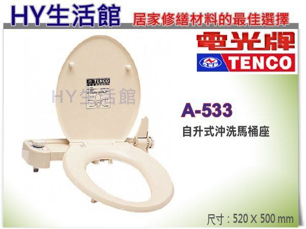 TENCO 電光牌 A-533 自升式沖洗馬桶座 自動掀馬桶蓋 免痔馬桶蓋