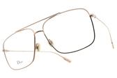 Dior 光學眼鏡 STELLAIRE O3 DDB (玫瑰金) 時尚造型飛官款 平光鏡框# 金橘眼鏡