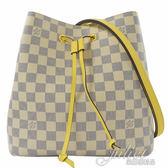 Louis Vuitton LV N40151 Neonoe 白棋盤格紋肩斜兩用水桶包.黃色 全新 預購【茱麗葉精品】
