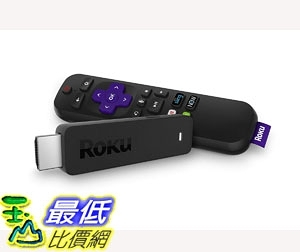 Roku Streaming Stick | Portable, Power-Packed Streaming Device with Voice Remote with Buttons