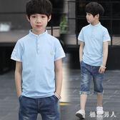 男童短袖T恤2018新款純棉立領Polo衫1韓版夏裝潮童裝 XW1089【極致男人】