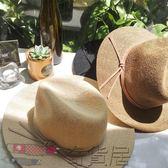 韓版簡約草帽沙灘帽太陽帽女遮陽帽