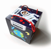 【麥克書店】ROCKET BABY BOOK AND BUILDING BLOCKS顏色數字外太空幼兒啟蒙新奇英文童書《認知》