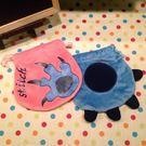 【發現。好貨】迪士尼史迪奇 手掌造型 卡通絨毛束口袋 化妝包 收納包 衛生棉包