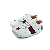 小男生鞋 休閒運動鞋 寶寶鞋 米白色 星星 小童 童鞋 500313-01 no155
