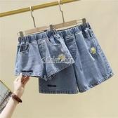 女童牛仔短褲夏季外穿2021新款洋氣中大童兒童小女孩寬鬆百搭熱褲 快速出貨