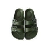 HOLA 兒童室內舒足童拖鞋-軍綠16