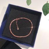 香港銀飾s925扭紋手鏈蛇骨鏈與小圓珠鏈互相纏繞獨特設計