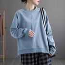 純棉T恤女 套頭內搭上衣 寬鬆休閒衛衣/3色-夢想家-0118