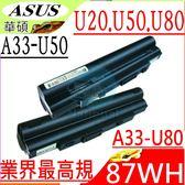 ASUS 電池(業界最高規)-華碩 電池 U20,U20A,U50,U50A,A31-U20,A32-U20,A32-U50,LOA2011,U50VG,U20FT,U20G