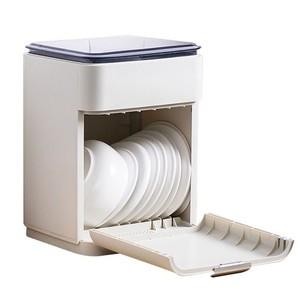 日本無印雙層碗盤瀝水架深藍