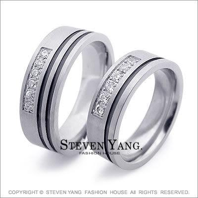 情人對戒STEVEN YANG西德鋼飾「一生一世」鋼戒指*單個價格*百貨精品推薦